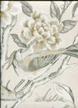 Galleria Lotus Blossom Mist Wallpaper 1601/655 By Prestigious Wallcoverings